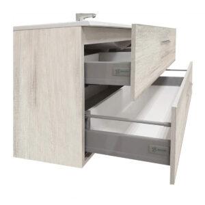 Mobile Bagno Sospeso Quercia Bianco Angela 100