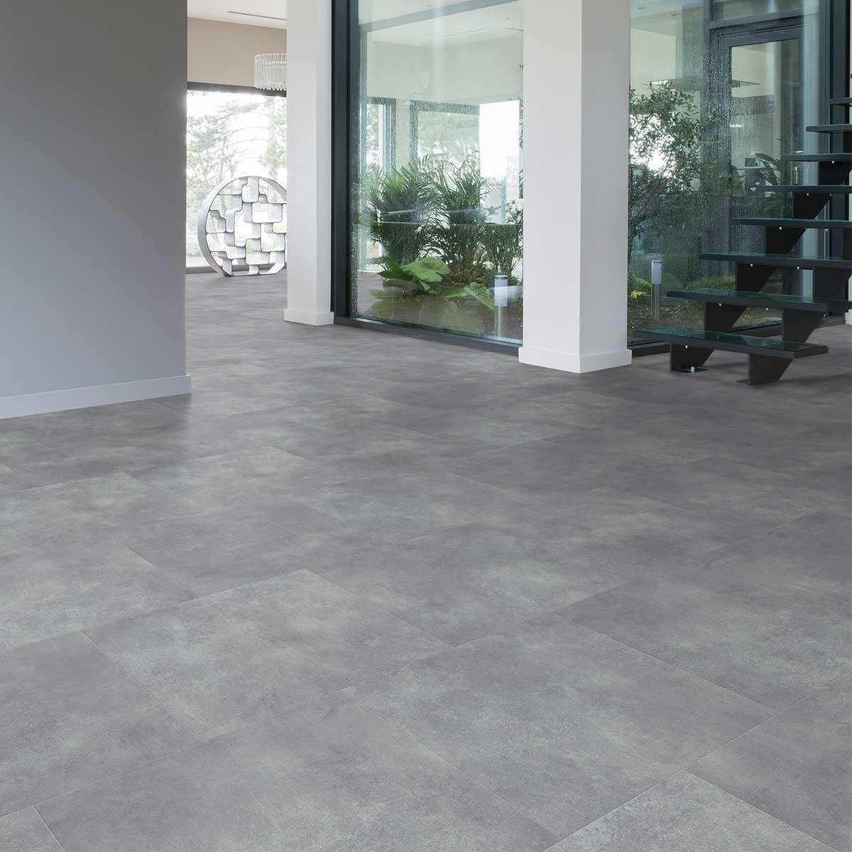 Pavimento In Pvc Effetto Legno pavimento pvc grigio cemento gelong - bagni e pavimenti
