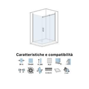 Box Doccia Cristallo Trasparente Cm 70 X 120 Zeus 2.0