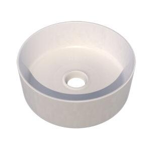 Lavabo Ceramica Bianco Opaco Tondo