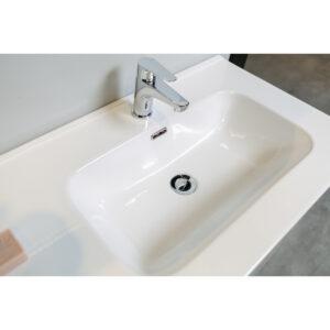 Mobile Bagno Sospeso Lamiera Ossidata / Cemento Delia3 100Dx