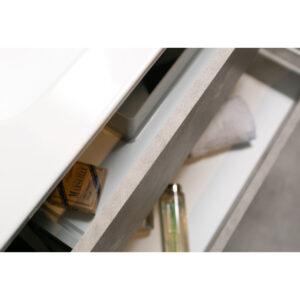 Mobile Bagno Sospeso Lamiera Ossidata / Cemento Delia3 100Sx