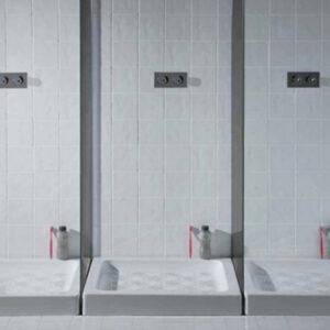 Piatto Doccia Ceramica Bianco Lucido Cento H10 80 X 100 Cm