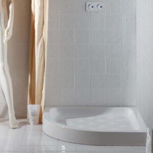Piatto Doccia Ceramica Bianco Lucido Cento H10 80 X 80 Cm Semicircolare