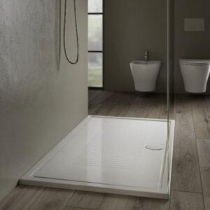 Piatto Doccia Ceramica Bianco Lucido Lif H3 80 X 100 Cm