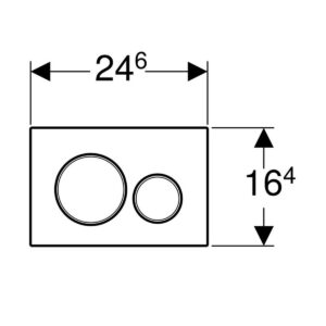Placca Cromo/Satinata Sigma 20 Tonda