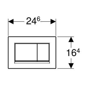 Placca Cromo Lucido/Opaco Sigma 30 Quadrata