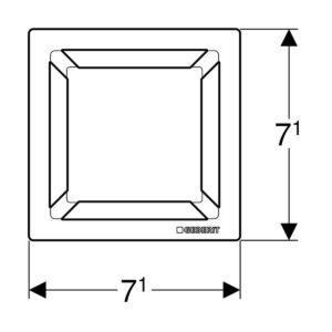 Pozzetto Sifonato Gliglia Quadrata