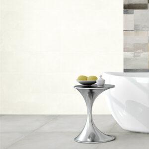 Rivestimento Effetto Cemento Bianco Fattoamano Wall 20×60