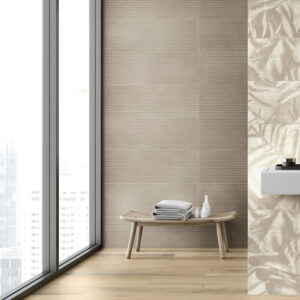 Rivestimento effetto cemento decoro Line Tortora Beton Wall 30×90